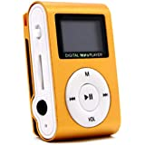 Margoun Digital MP3 Player Clip Style with 1inch LCD Screen in Orange