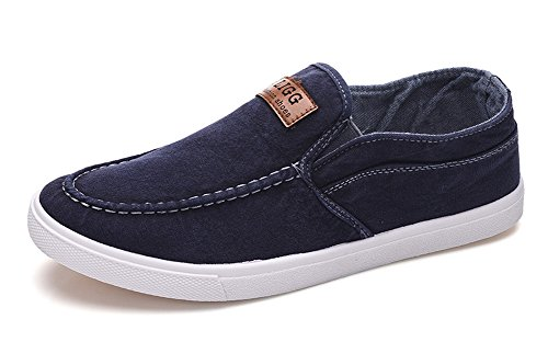 Dark Men's Comfy Elastic Blue On Slip Loafers Casual Shoes Aisun Jeans zqdSZOO
