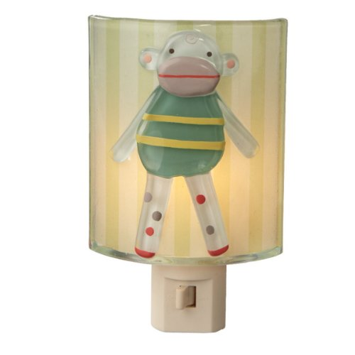 """Sock Monkey Night Light 5.5"""" Tall (Including Plug and Decoration) 3.375"""" Wide"""