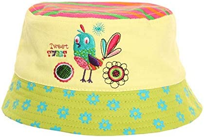 Ideal for Summer Holidays Girls Animal Applique Bird /& Ladybird Bucket Bush Sun Hat