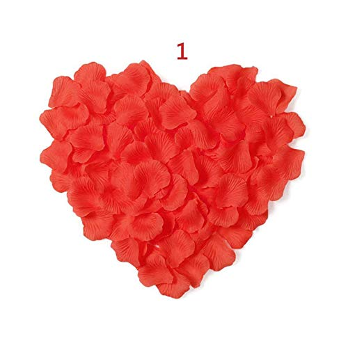 1000 pcs Faux Silk Rose Petals Flower Artificial