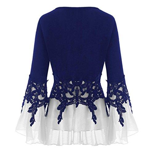 Soie Femme Beikoard Debardeur Shirt Tops Chemisier Femme Femme Taille Blouse Bleu Top Mousseline de V Blouse Chemisier Neck Tee Grande TwEPgqP