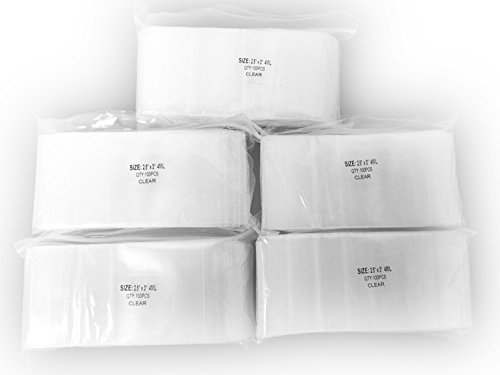 4 Mil Clear Zip Lock Bags,2.5 x 3 Inches,5 Packs of 100