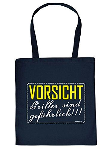 Griller Tote Bag Henkeltasche Beutel mit Aufdruck Tragetasche Must-have Stofftasche Geschenkidee Fun Einkaufstasche