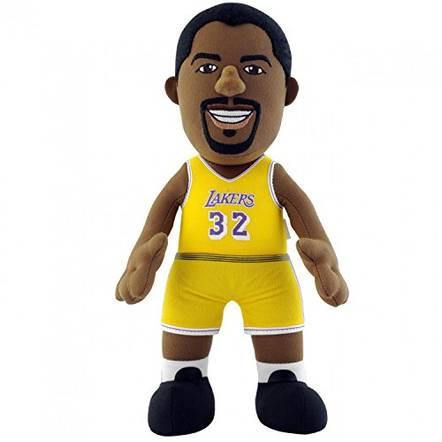 Bleacher Creatures NBA Los Angeles Lakers Magic Johnson Player Plush Doll, 6.5-Inch x 3.5-Inch x 10-Inch, Yellow