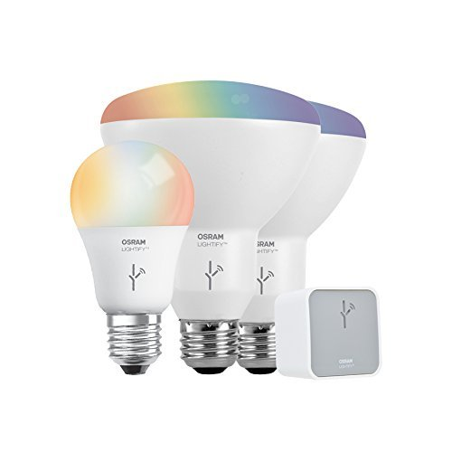 SYLVANIA General Lighting 73881 Smart Home LED Starter Kit, Adjustable White and Full Color