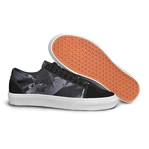 (VCERTHDF Print Trendy Digital Art 3d Geometric Stereoscopic Low Top Canvas Sneakers)