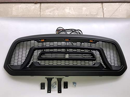 ABS Honeycomb Rebel Style Grille Grill For 2013-2018 Ram 1500