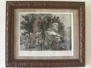 "1860's Steel Engraving of Civil War's ""Battle of Antietam"" at Sharpsburg Md."