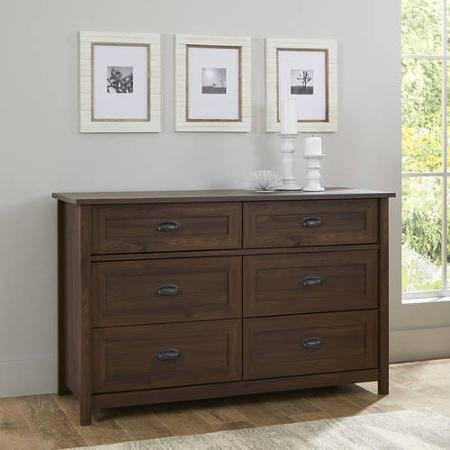 Cherry Dresser Ten Drawer - Lafayette Dresser, English Walnut Finish, Metal Runners and Safety Stops