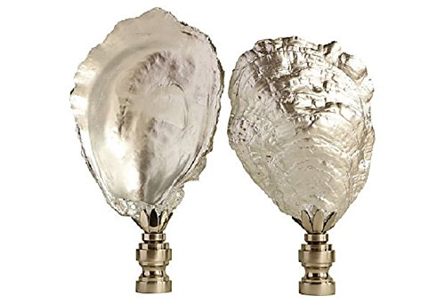 Amazon Com Silvered Oyster Shell Lamp Finials On Brushed Nickel