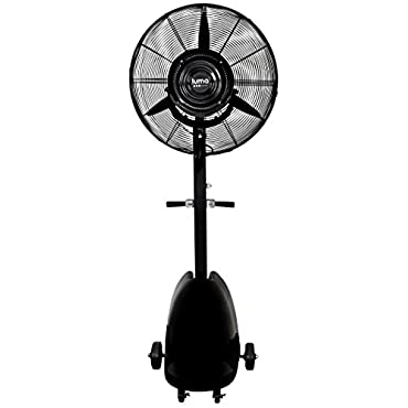 Luma Comfort Corporation MF26B 26 Inch Outdoor Commercial Misting Fan, Black