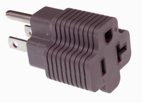 - 15 Amp Male to 20 Amp Female Plug Outlet 3 Prong Household T-Blade Adapter UL-Listed 120V