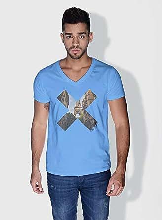Creo Paris X City Love T-Shirts For Men - Xl, Blue