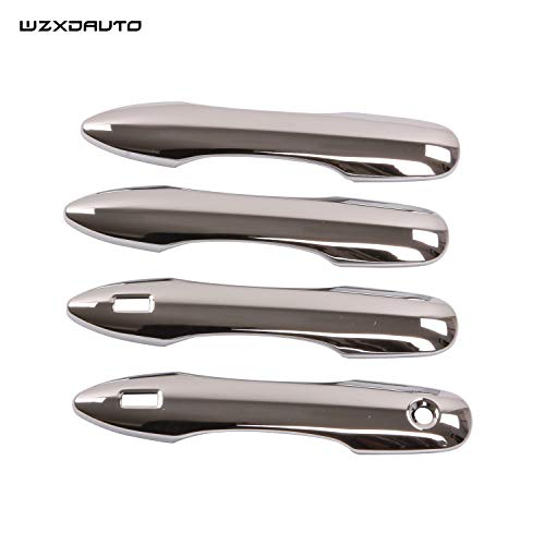 Wzxdauto Quality Accessories Fit for Toyota Camry 2018 2019 Chrome Plated Door Handles Cover Trim with Smart Keyholes