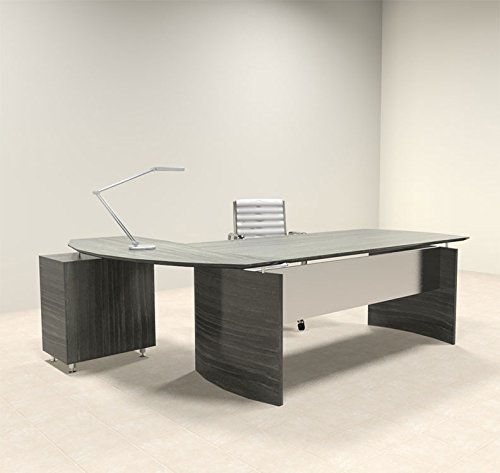 2pc Modern Contemporary L Shape Executive Office Desk Set, #MT-MED-O4