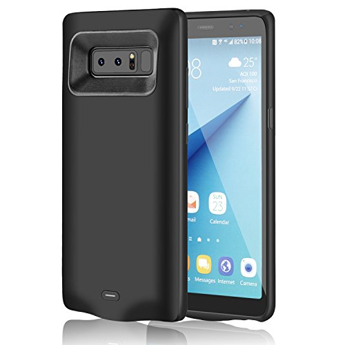 5500mAh Samsung Galaxy Note 8 Battery Case, Meritcase 5500mAh Extended Rechargeable High Capacity Battery Case for Samsung Galaxy Note 8 – Black