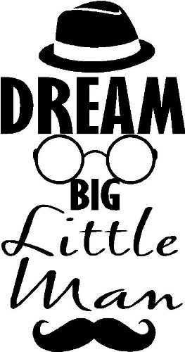 Amazon Com Dream Big Little Man Hat Glasses Mustache Funny Boys