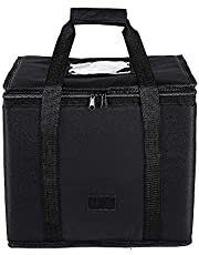 26L Reusable Insulated Pizza Carrier Bag for Food delivery -Foldable Heavy Duty Food Warmer Grocery Bag for Camping Catering Restaurants UberEats Doordash Grubhub Postmates (Medium)