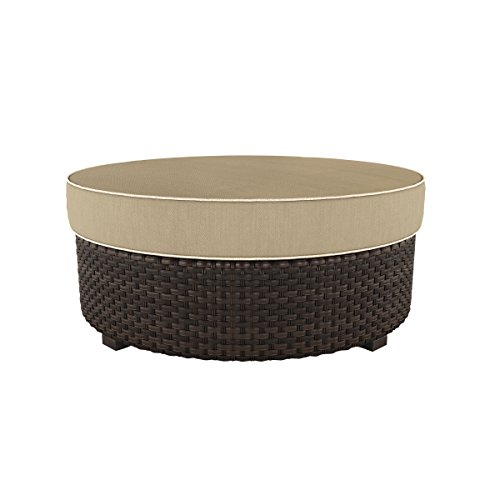 Ashley Furniture Signature Design - Spring Ridge Outdoor Ottoman with Cushion - Beige & (Weather Out Pool Heater Cover)