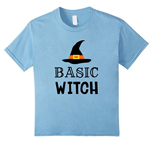 Hilarious Costume Ideas College (Kids Funny Witch Halloween Shirt Basic Witch T-shirt Cute Costume 6 Baby Blue)