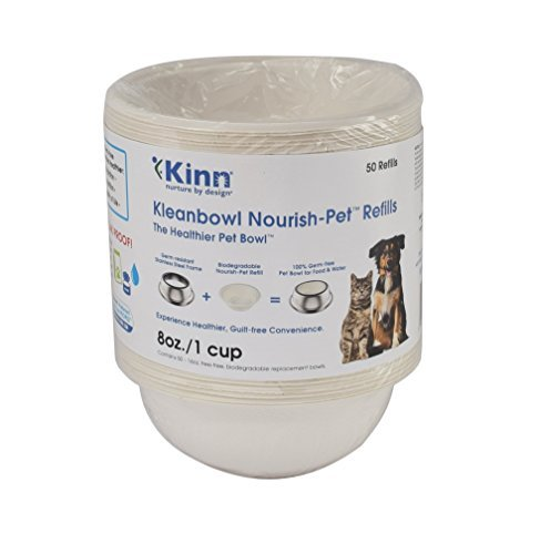 Kinn Kleanbowl Nourish Pet Refill Food & Water Bowls for Dogs & Cats, 8 ounce (1 cup) by Kinn