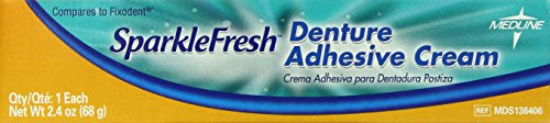 medline Denture Adhesives, 2.4 Ounce, 12 Count