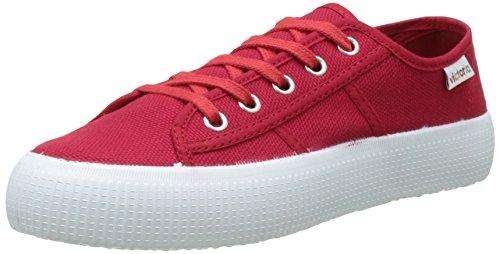 UK Victoria Femme Lona Baskets Rojo 5 7 Rouge Basses Gruesa zHZvwqB