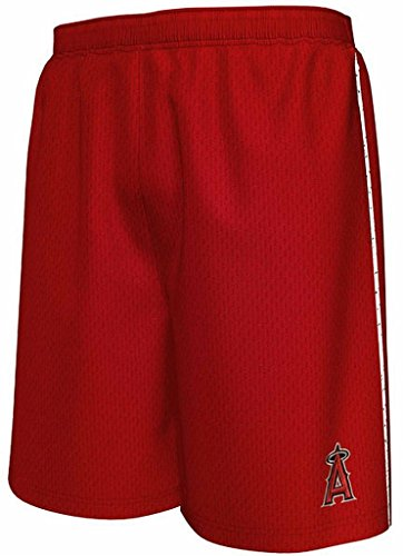 Majestic Los Angeles Angels MLB Mens Rush To Victory Shorts Red Big & Tall Sizes (4XL)