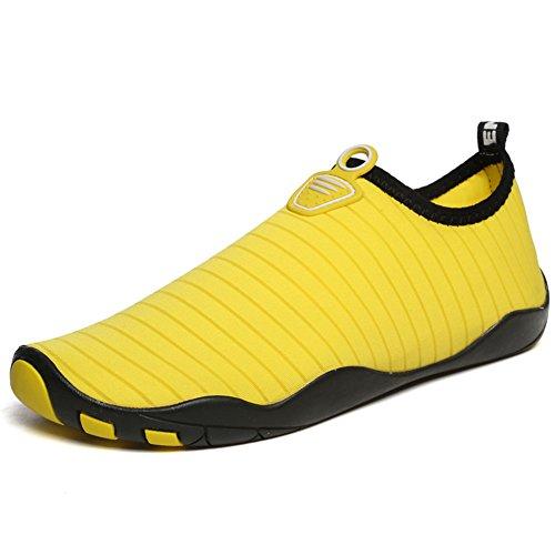 Lingtom Unisex Quick-dry Water Shoes Suola Spessa Pelle Aqua Calze A Piedi Nudi Per Lesercizio Yoga Spiaggia Giallo