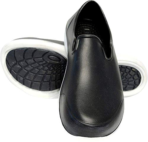 Evacol Nursing Clogs Ultralite Nurse Shoes Uniform Professional Work Clogs for Health Care Hospitals and Restaurant (38, Black) from Evacol