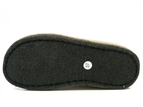 Haflinger Flai-Smily-Duo - Pantuflas de lana unisex Braun