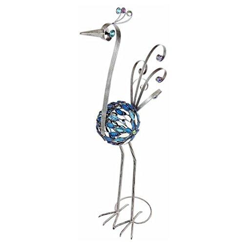 Exhart 38-Inch Filigree Pewter Bird Statue with Mosaic Tiles (Mosaic Filigree)