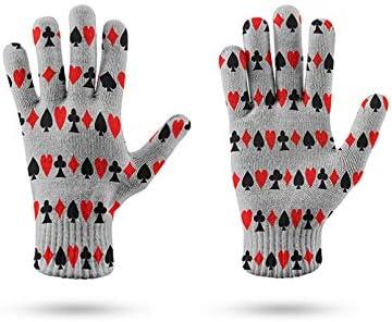 LUOXUEFEI Dames Gebreide Handschoen Winter Touchscreen Dames Handschoen Thicken Warm Heren Midden