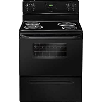 """Frigidaire FFEF3011LB 30"""" Freestanding Electric Range with 4 Coil Elements 4.8 cu. ft. Oven Capacity Store-More Storage Drawer Manual Clean Timed Cook Option in"""