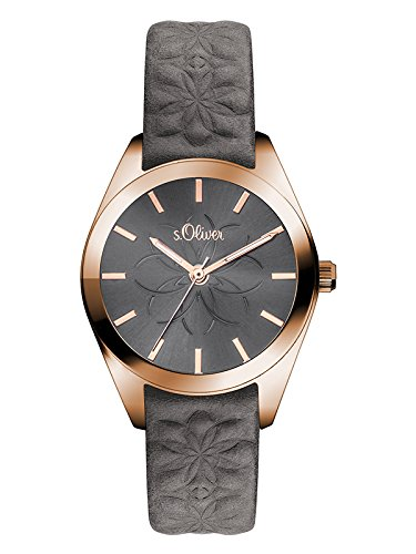 s.Oliver Damen-Armbanduhr Analog Quarz Leder SO-3079-LQ