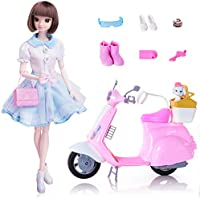 EXERCISE N PLAY Fashion Doll Playset with Scooter Dolls...