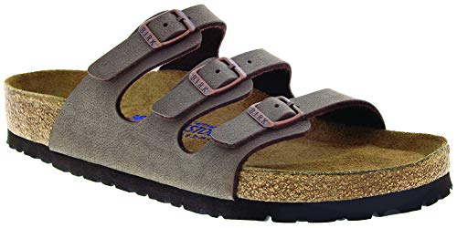 Birkenstock Men's Florida Soft Footbed Sandal Mocha Birkibuc Size 43 M EU