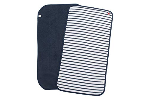 Baby-to-Love Waterproof Changing Pad Liners, Baby Boy Burp Cloth, Changing Table Pad (Blue Stripes, Bundle) (Terry Changing Pad Baby)