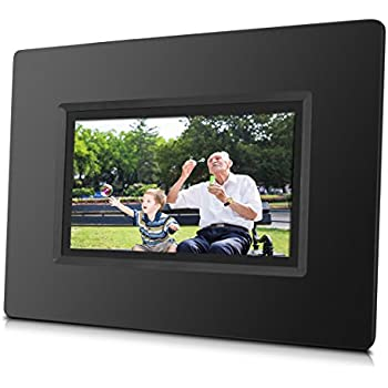 this item sungale cpf716 7 smart wi fi cloud digital photo frame with touch screen operation built in battery free cloud storage real time photos movie