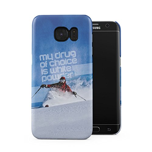 Edge Telemark Skis (Skiing Slide Downhill Telemark Style My Drug Of Choice Motivation Quote Plastic Phone Snap On Back Case Cover Shell For Samsung Galaxy S7 Edge)