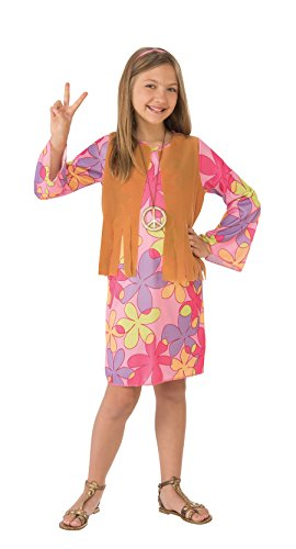 Girl Hippie Go (Rubie's Costume Sunshine Hippie Value Child Costume, Medium)
