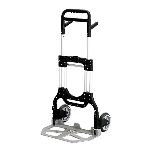 (Safco Products Stow Away Heavy-Duty Hand Truck 4055NC, Collapsible, 500 lbs. Capacity, Telescoping Handle )