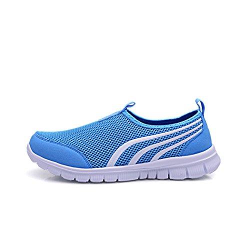 Cerf Hommes Et Femmes Mesh Chaussures, En Plein Air, En Cours Dexécution, La Marche, La Randonnée, Sneakers Bleu