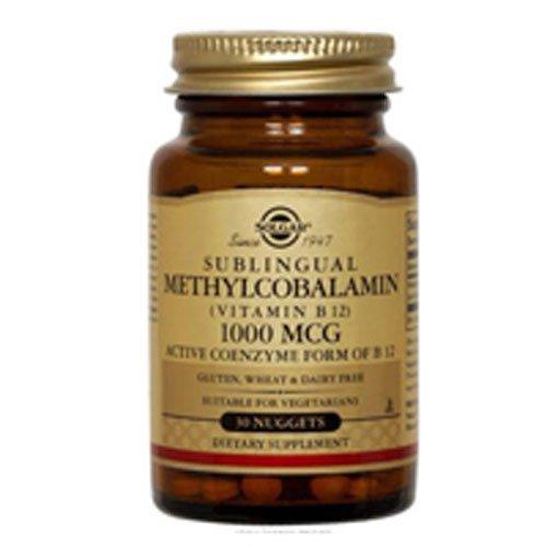 Solgar – Methylcobalamin (Vitamin B12) 1000 mcg Nuggets, 60 Count – 3 Pack