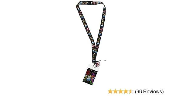 Disney Alice In Wonderland ID Card Key Holder Badge Lanyard /& Cheshire Cat Charm