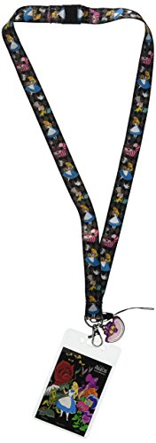 Disney Alice in Wonderland Lanyard with Soft Dangle & Card Holder