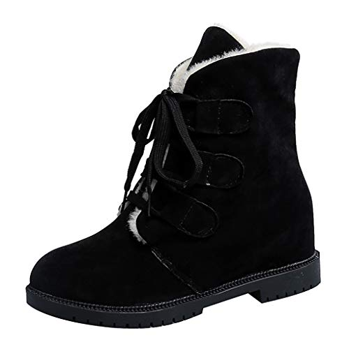 Respctful✿ Womens Snow Boots Winter lace up Suede Flat Platform Sneaker Shoes Ankle Booties