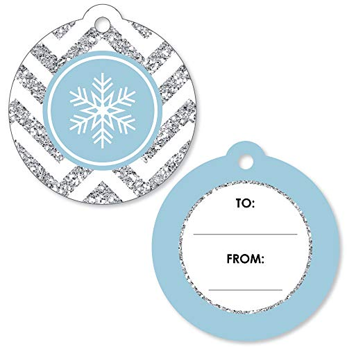 - Winter Wonderland - Snowflake Holiday Party and Winter Wedding to and from Gift Tags (Set of 20)