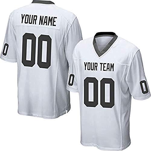 ytgls Custom Football Team Designated Player Game Jersey #3-#18Men 4XLNavy-White